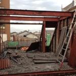 鉄骨造4階建ての手壊し解体工事