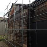 富山市内の解体工事後の壁補修を施行させていただきました