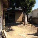 立ち木のある木造住宅の解体を行いました!