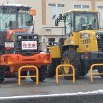 商業施設の除雪は、エイキの除雪車にお任せください!