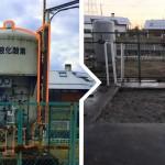 富山市の某工場で液化酸素用の大型タンクの撤去を行いました